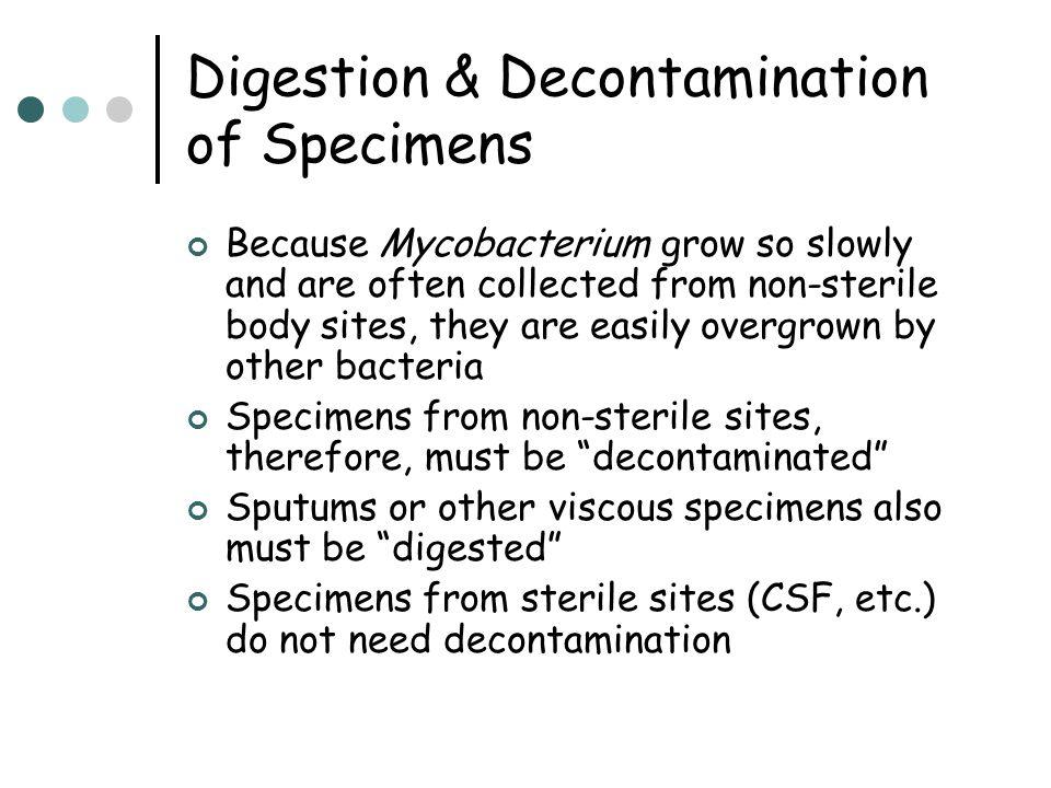 Digestion & Decontamination of Specimens