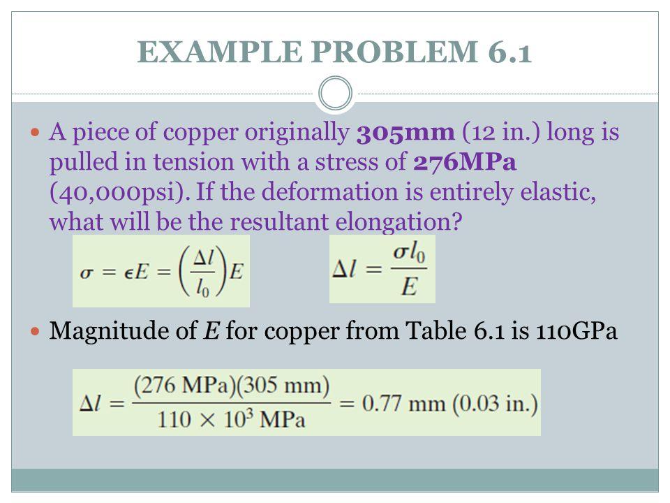 EXAMPLE PROBLEM 6.1