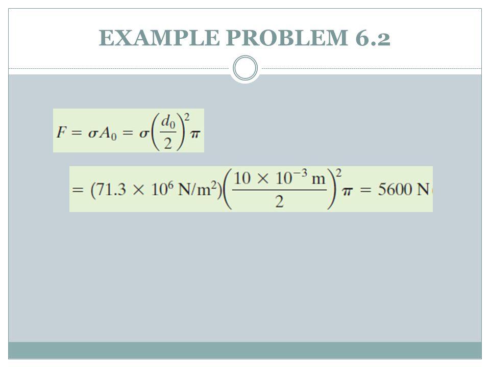 EXAMPLE PROBLEM 6.2