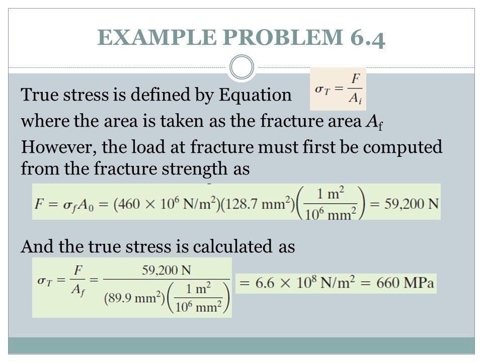 EXAMPLE PROBLEM 6.4