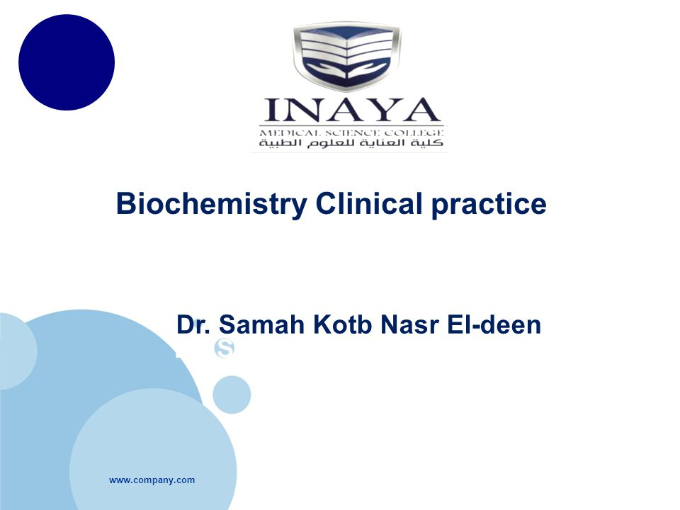 Biochemistry Clinical practice