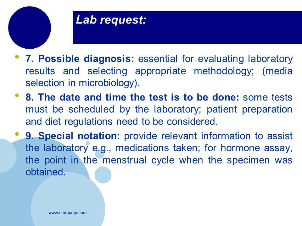 Lab request: