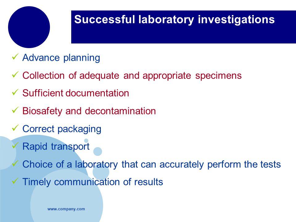 Successful laboratory investigations