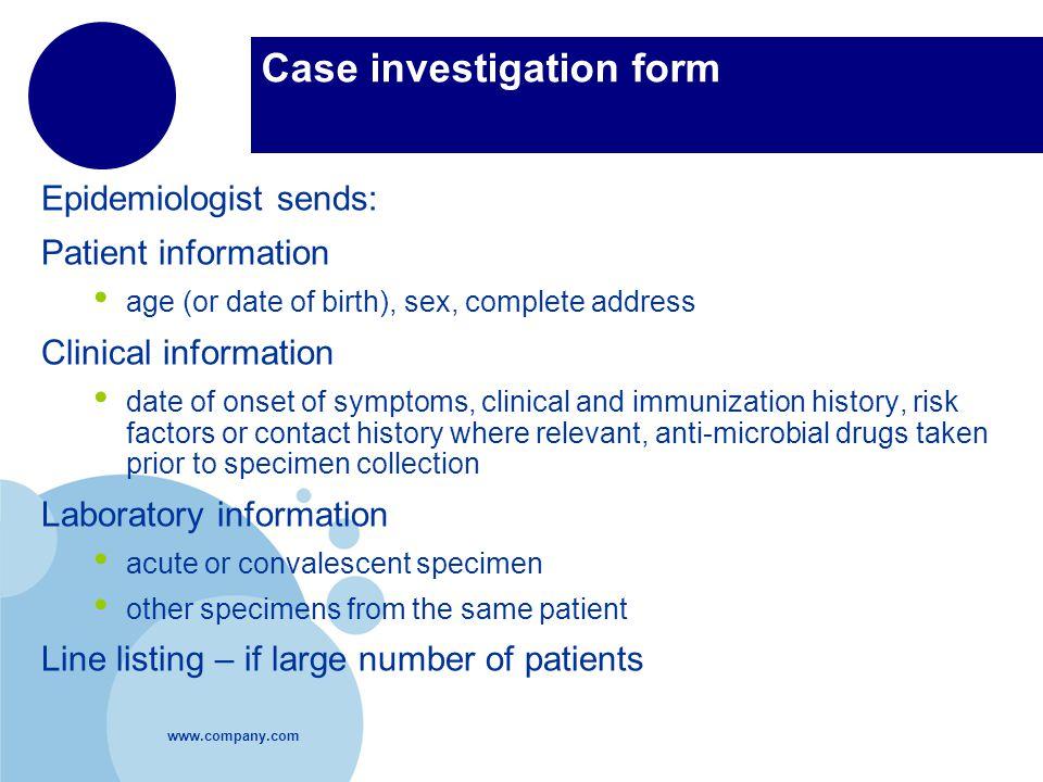 Case investigation form