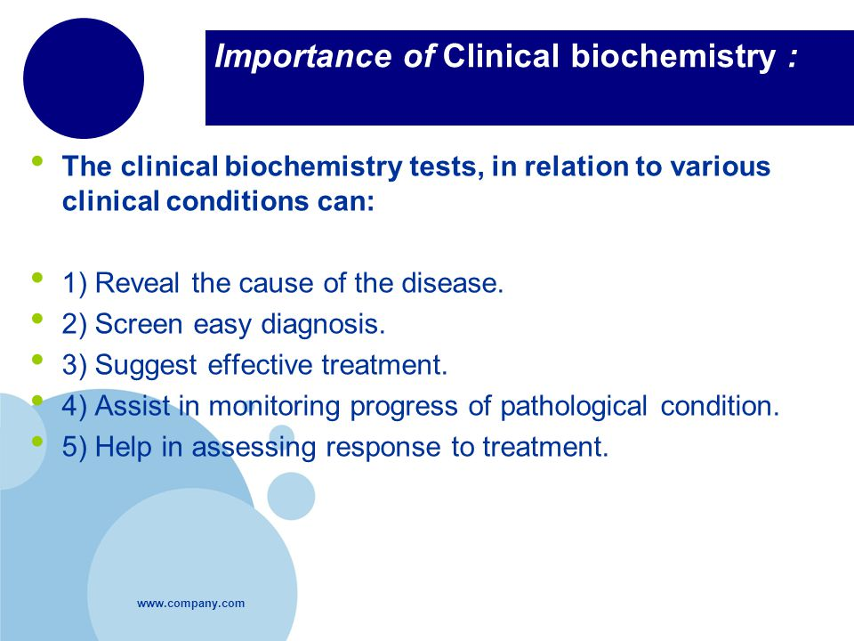 Importance of Clinical biochemistry :