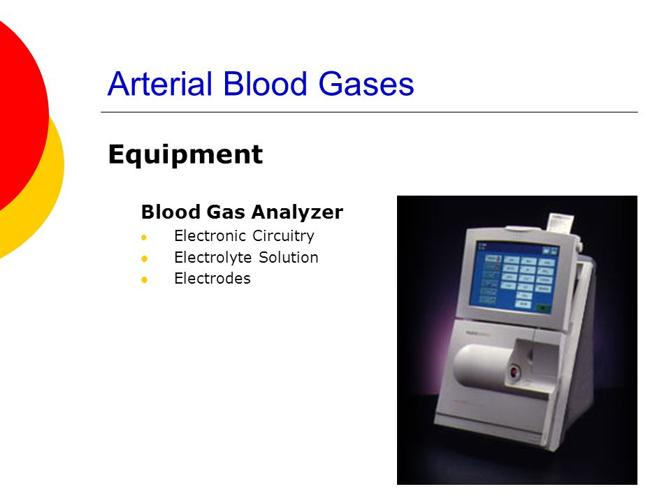 Arterial Blood Gases Equipment Blood Gas Analyzer Electrolyte Solution