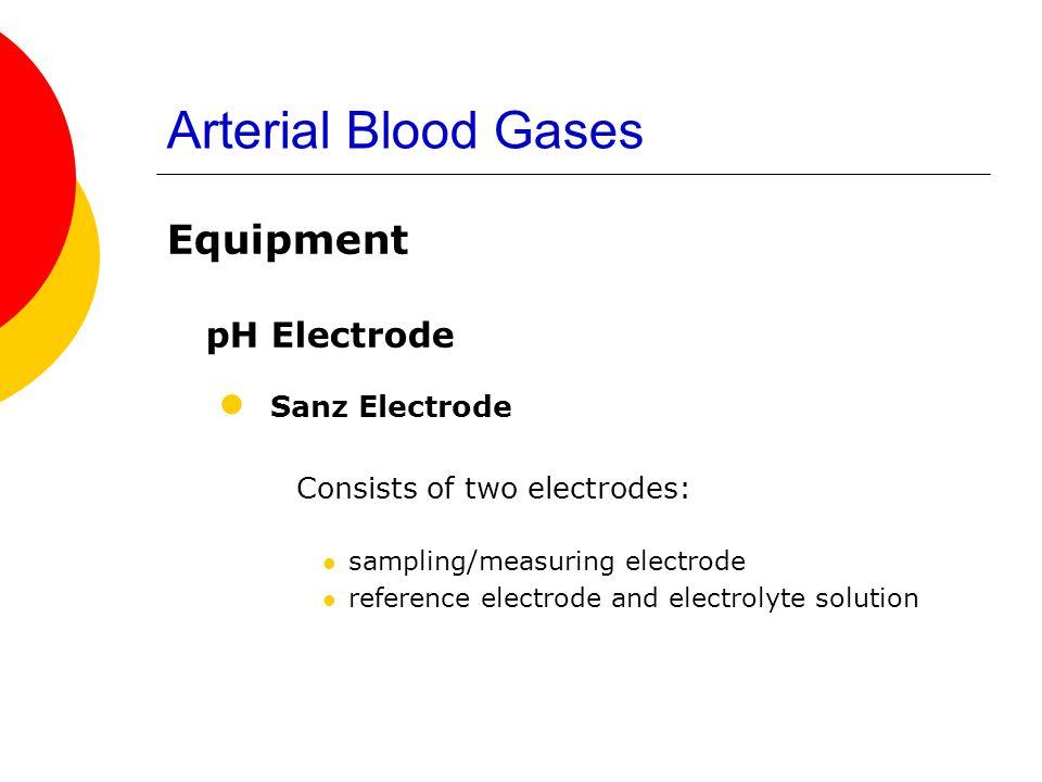 Arterial Blood Gases Sanz Electrode pH Electrode Equipment