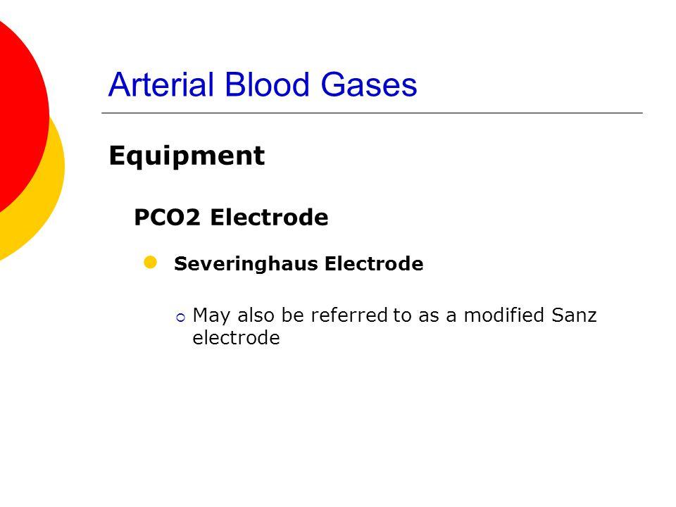 Arterial Blood Gases Severinghaus Electrode PCO2 Electrode Equipment