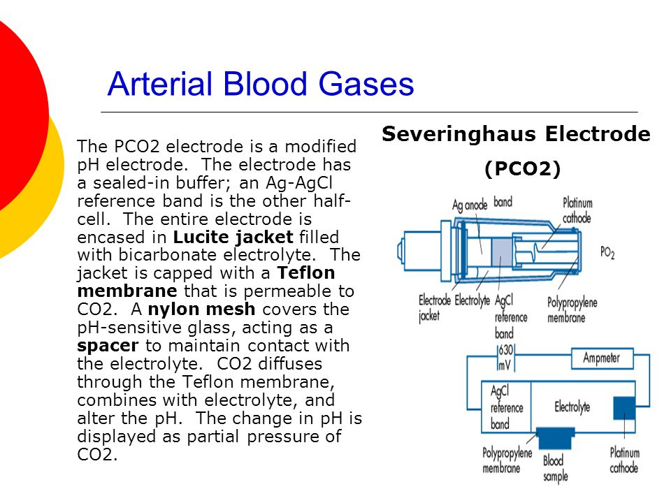 Arterial Blood Gases Severinghaus Electrode (PCO2)