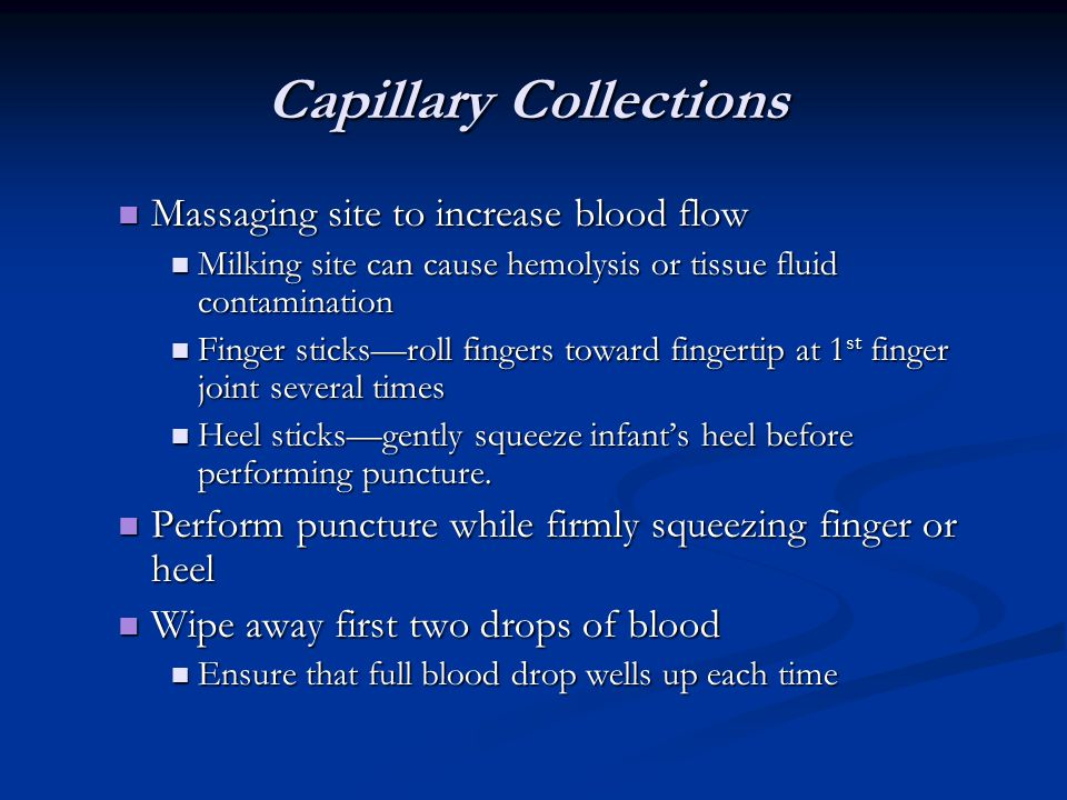 Capillary Collections