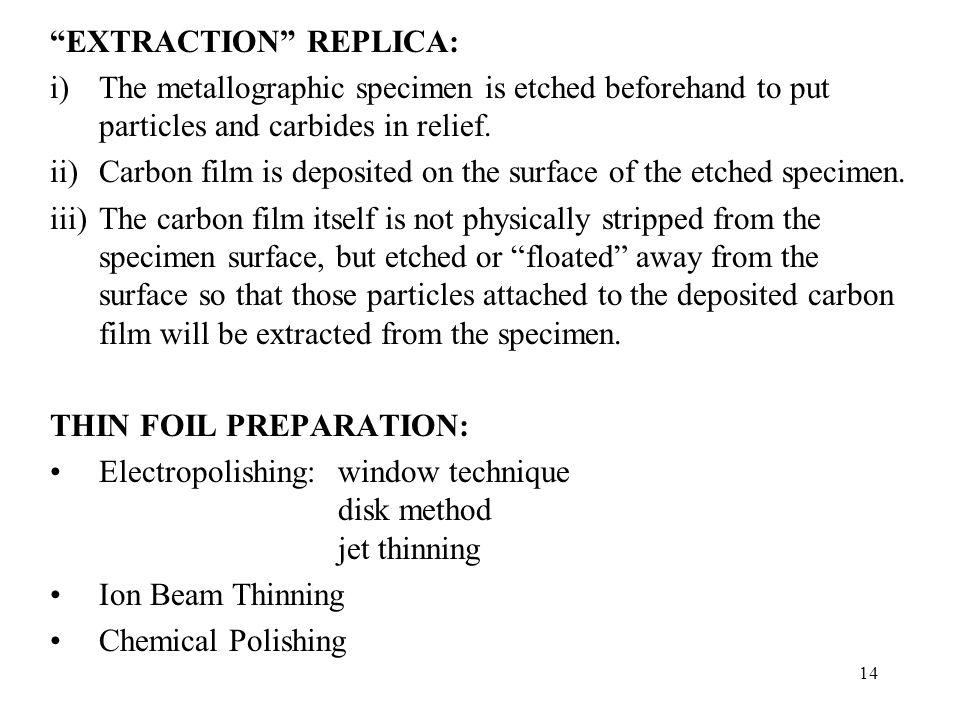 EXTRACTION REPLICA: