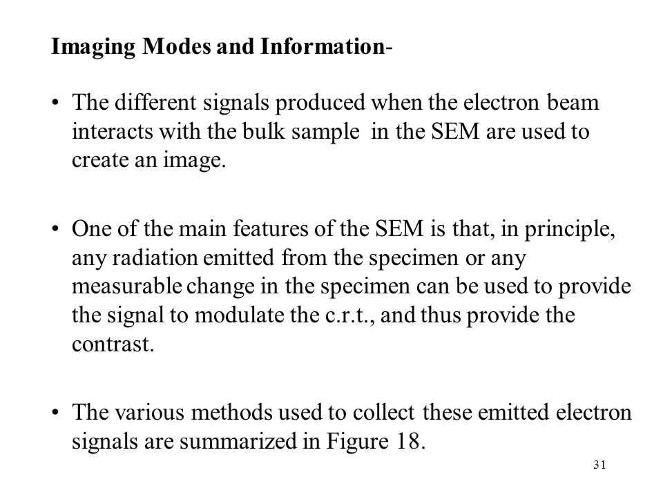 Imaging Modes and Information-
