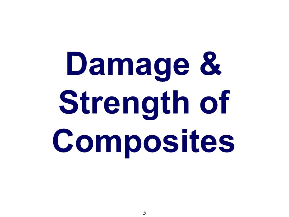 Damage & Strength of Composites