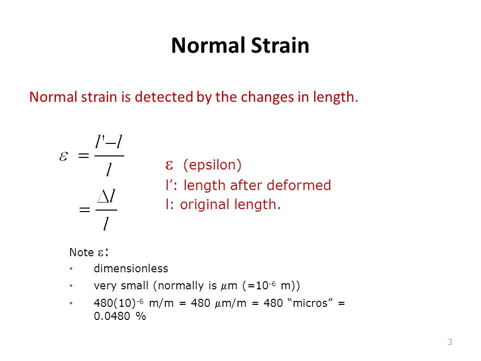 Normal Strain e (epsilon)