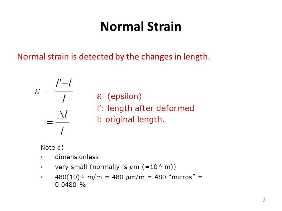 Normal Strain e (epsilon)