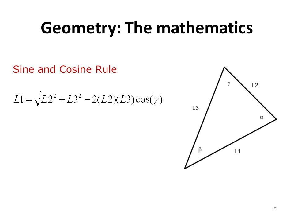 Geometry: The mathematics