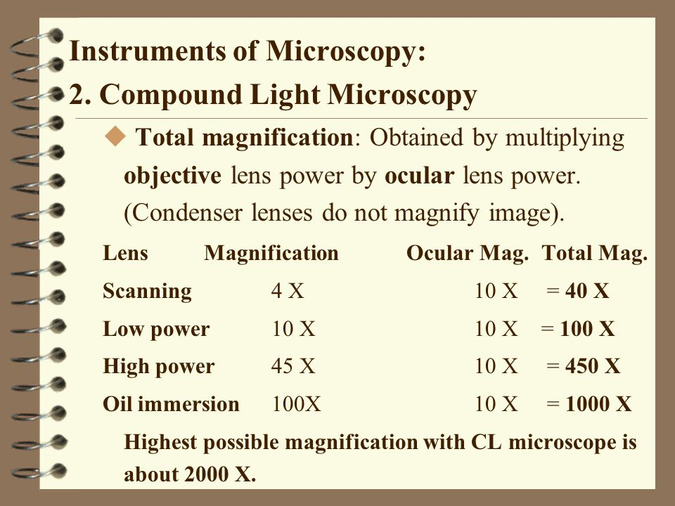 Instruments of Microscopy: 2. Compound Light Microscopy