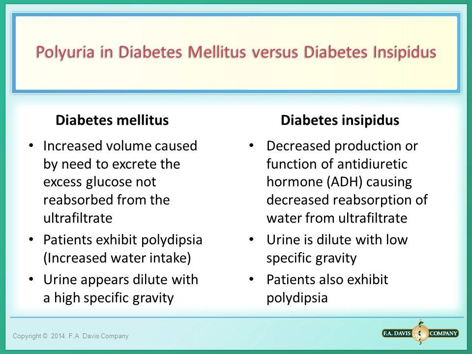Polyuria in Diabetes Mellitus versus Diabetes Insipidus
