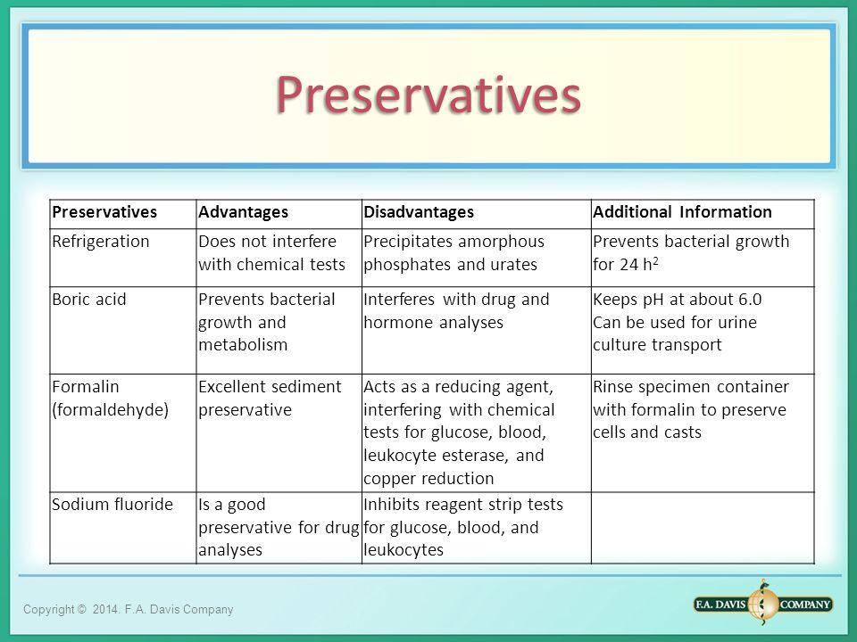 Preservatives Preservatives Advantages Disadvantages