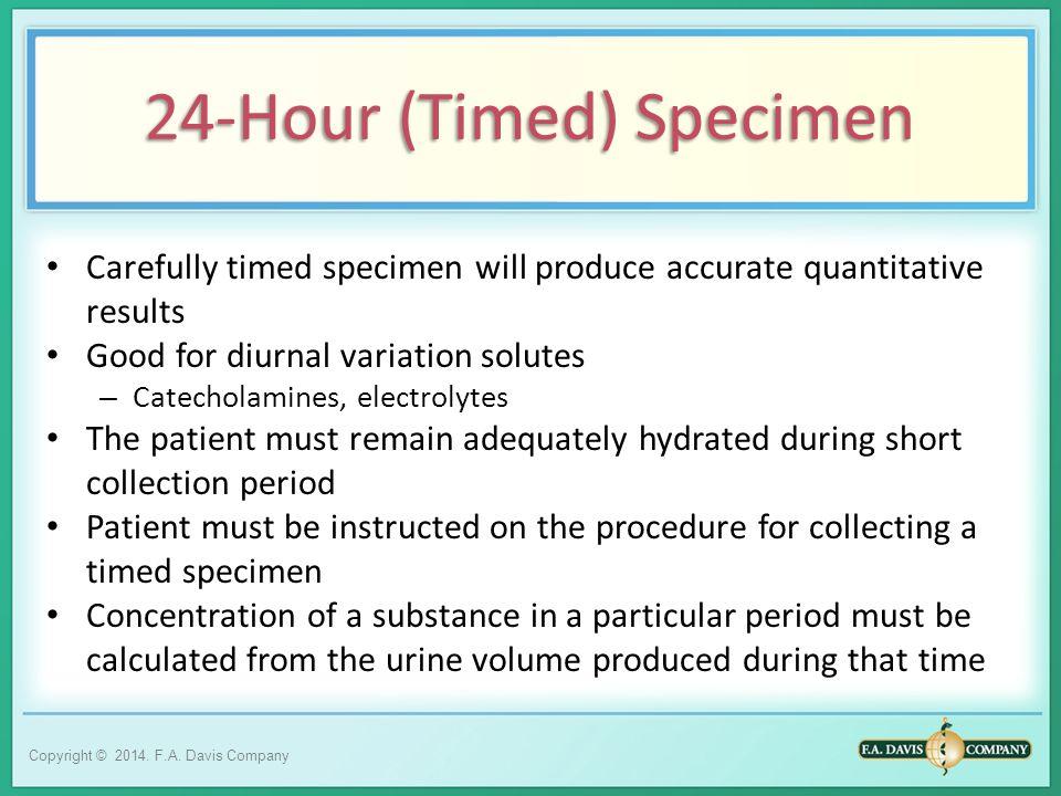 24-Hour (Timed) Specimen