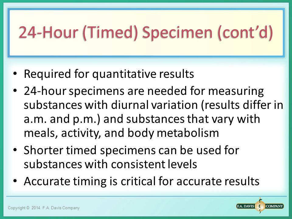 24-Hour (Timed) Specimen (cont'd)