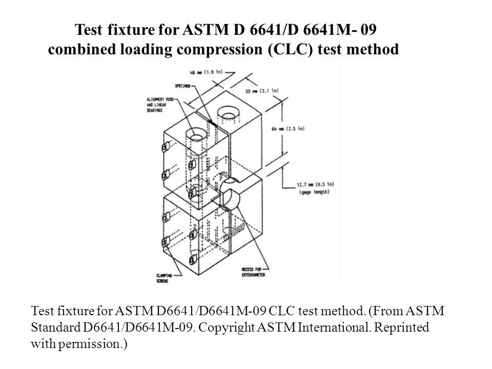 Test fixture for ASTM D 6641/D 6641M- 09