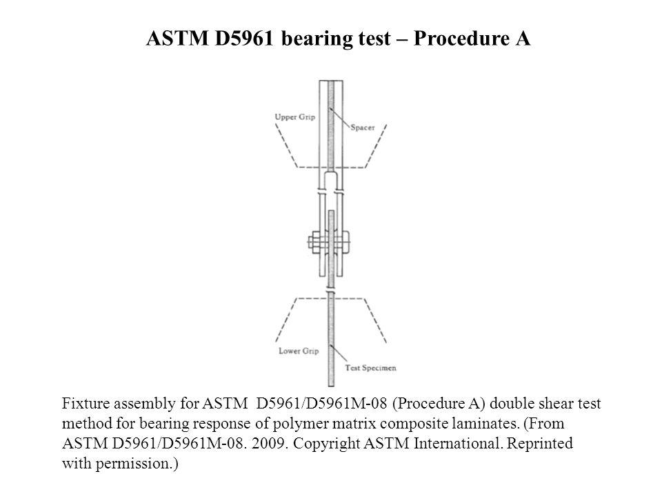 ASTM D5961 bearing test – Procedure A