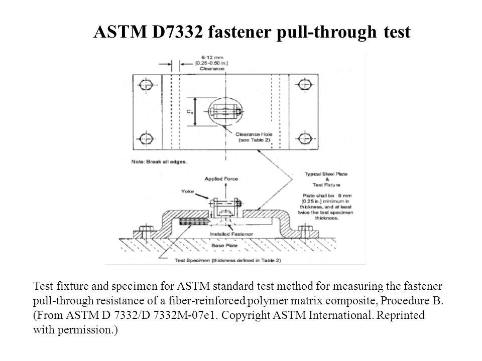 ASTM D7332 fastener pull-through test