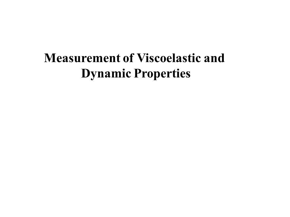 Measurement of Viscoelastic and