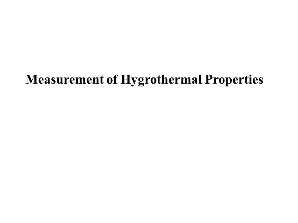 Measurement of Hygrothermal Properties