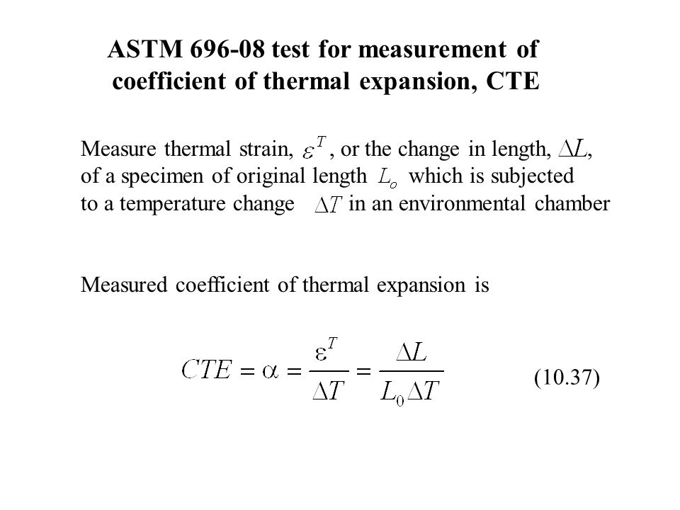 ASTM 696-08 test for measurement of