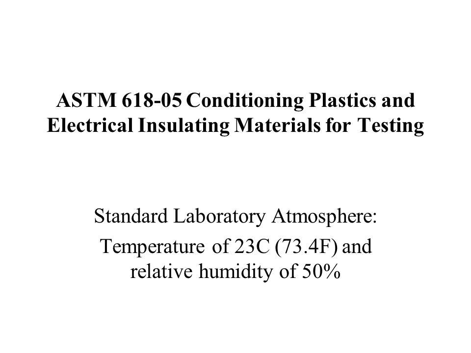 Standard Laboratory Atmosphere: