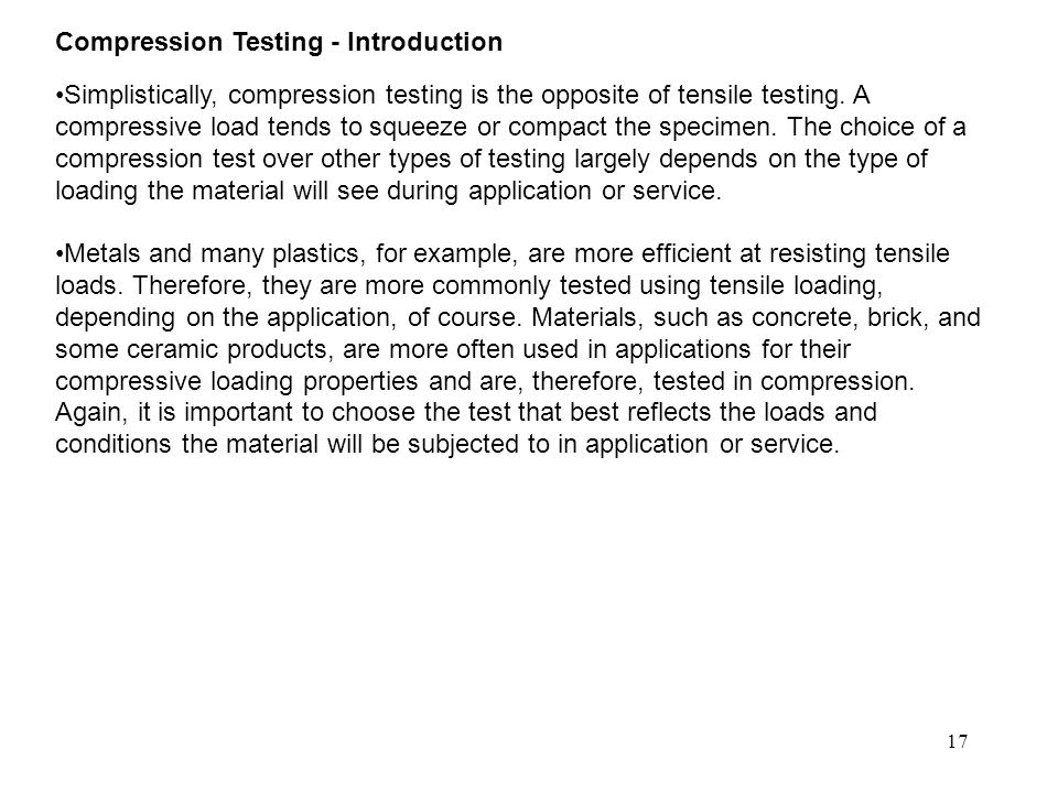 Compression Testing - Introduction