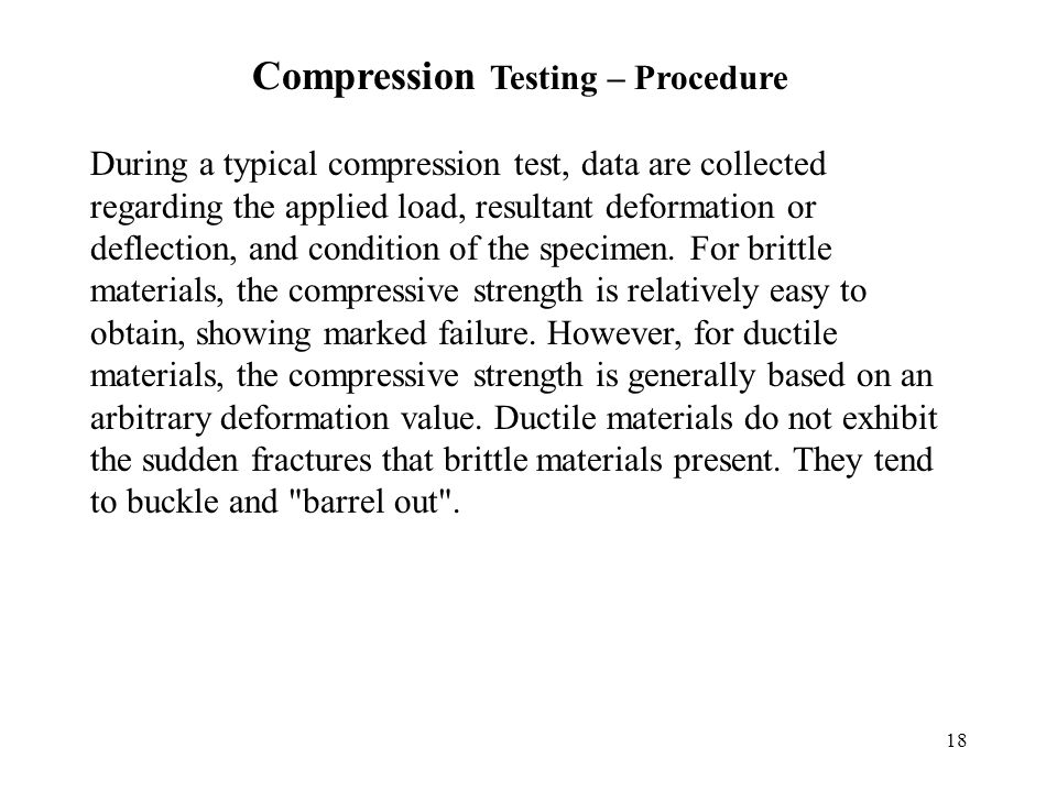 Compression Testing – Procedure