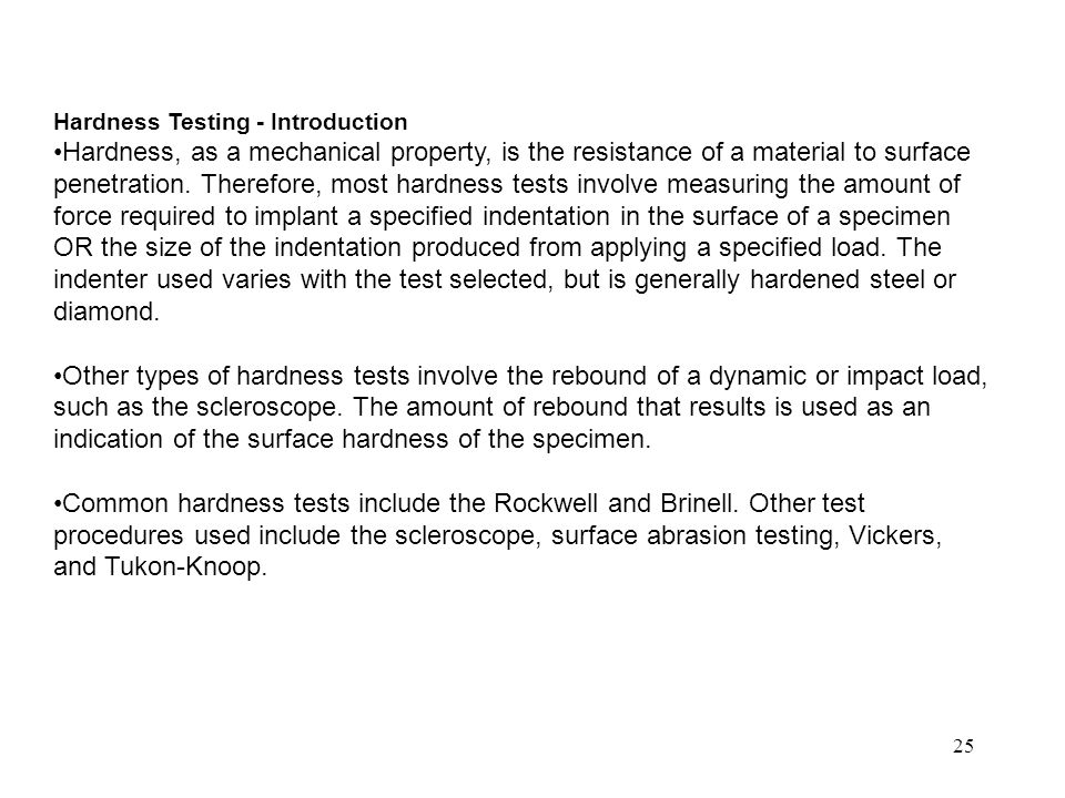 Hardness Testing - Introduction