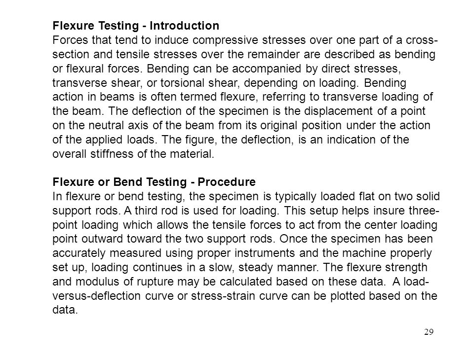 Flexure Testing - Introduction