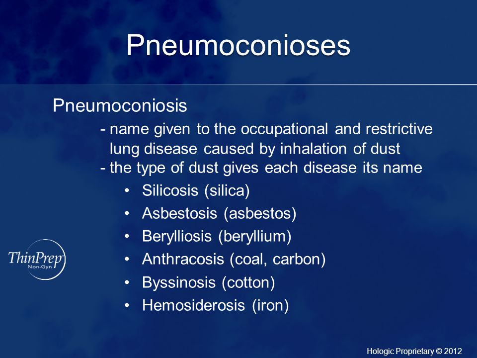 Pneumoconioses Pneumoconiosis