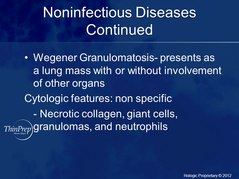 Noninfectious Diseases Continued