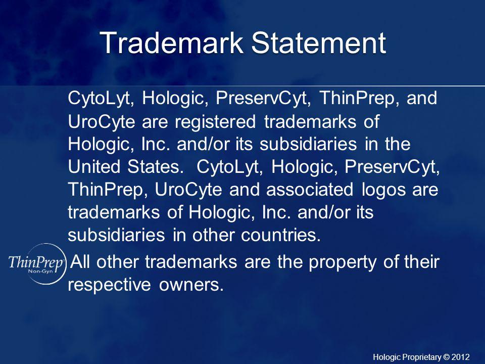 Trademark Statement