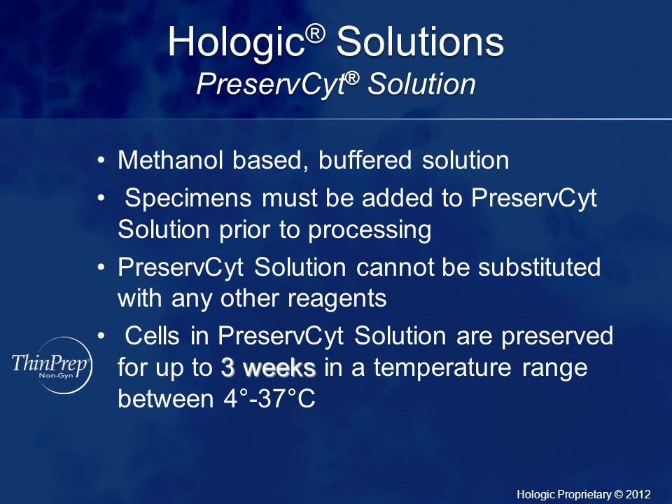 Hologic® Solutions PreservCyt® Solution