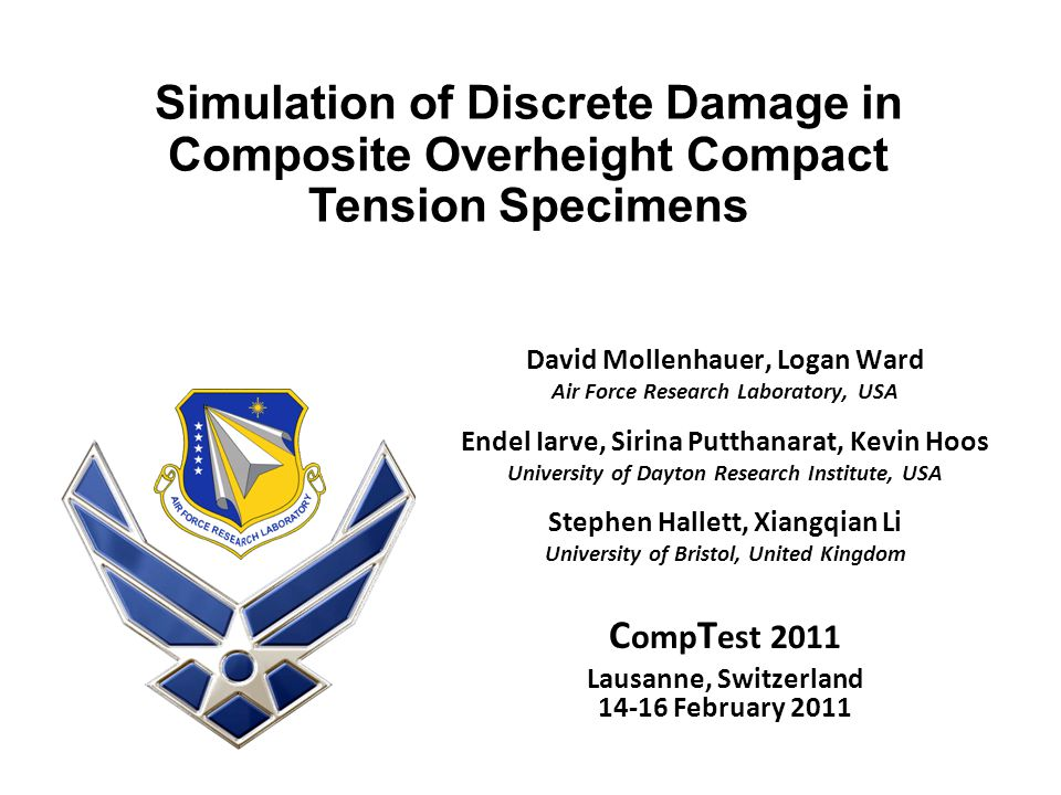 Simulation of Discrete Damage in Composite Overheight Compact Tension Specimens