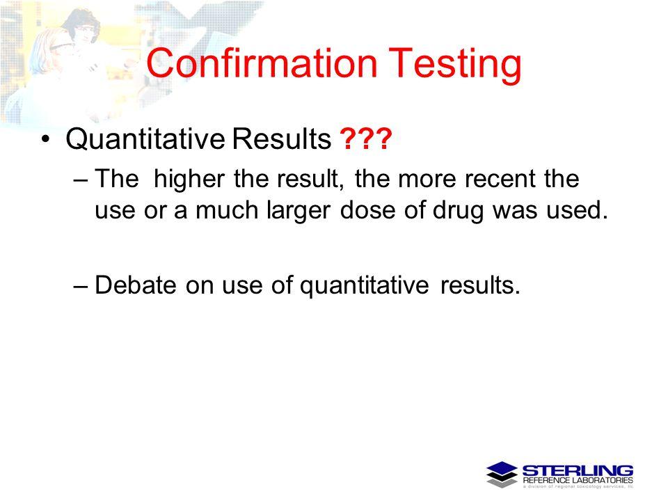 Confirmation Testing Quantitative Results