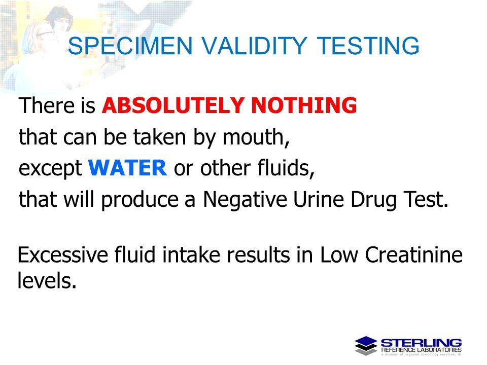 SPECIMEN VALIDITY TESTING