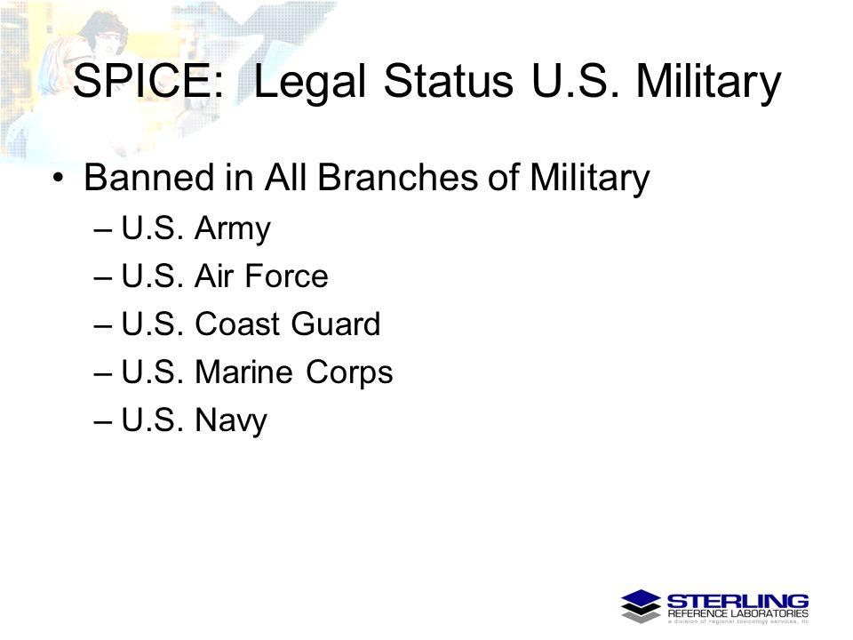SPICE: Legal Status U.S. Military