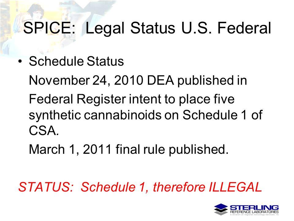 SPICE: Legal Status U.S. Federal