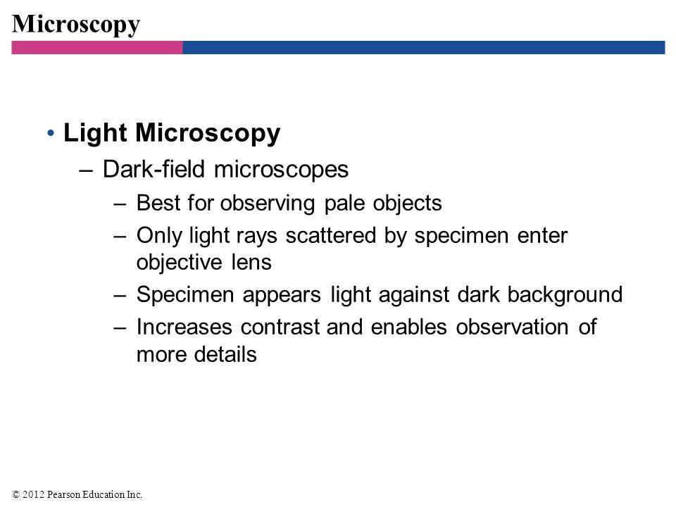 Microscopy Light Microscopy Dark-field microscopes