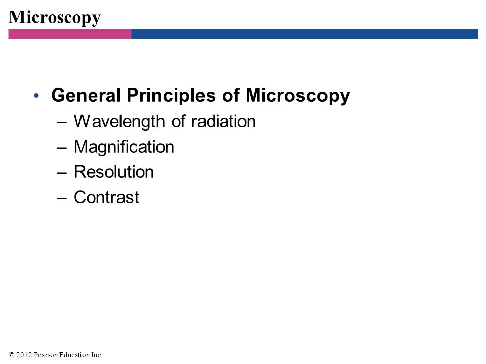 General Principles of Microscopy