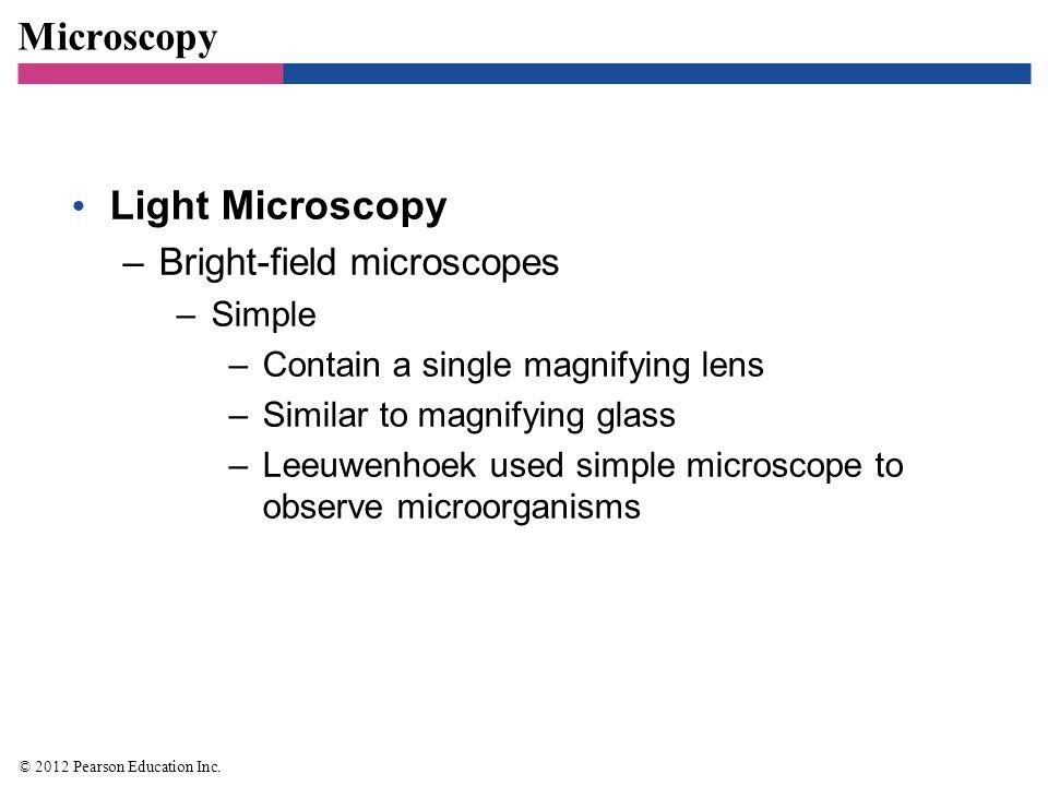 Microscopy Light Microscopy Bright-field microscopes Simple