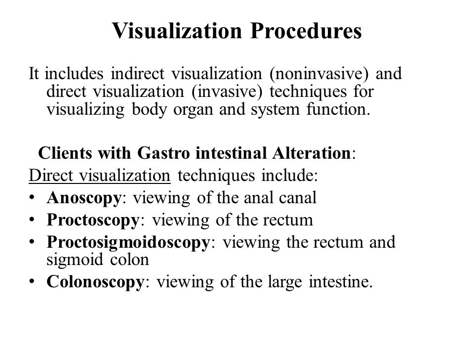Visualization Procedures
