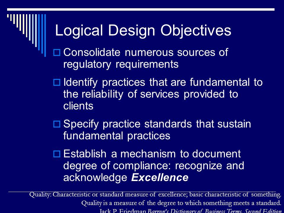 Logical Design Objectives